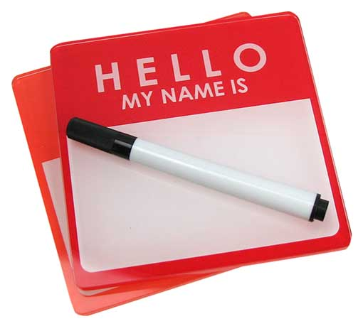 DRY-ERASE NAME TAG COASTERS