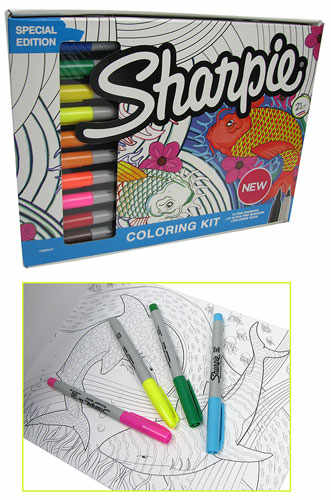 SHARPIE® MARKER COLORING SET WITH COLORING BOOK