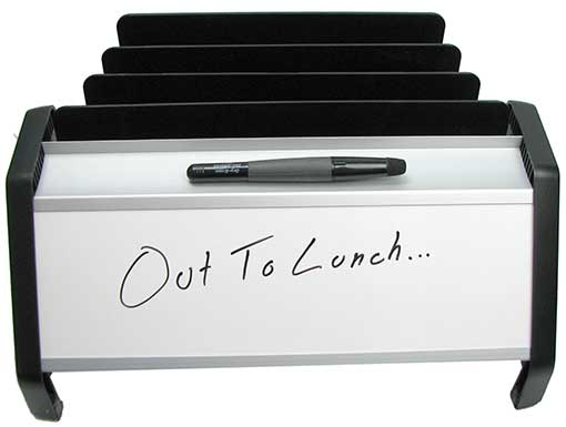 FILE ORGANIZER WITH DRY-ERASE BOARD