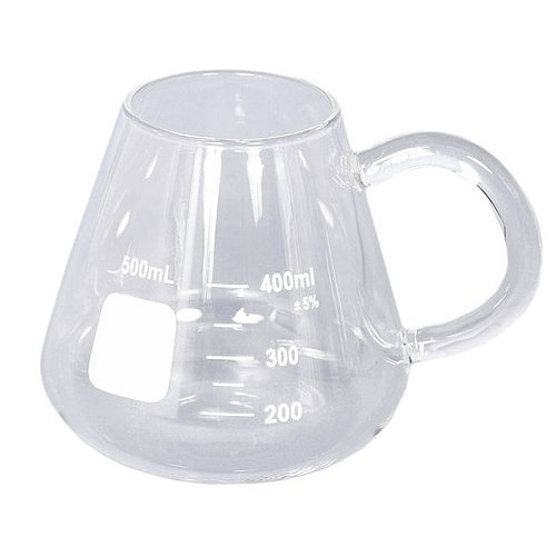 HANDLED ERLENMEYER FLASK COFFEE CUP