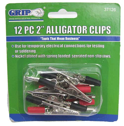 "2"" LONG ALLIGATOR CLIPS"