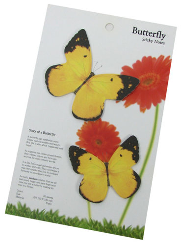 SELF-ADHESIVE BUTTERFLY NOTES