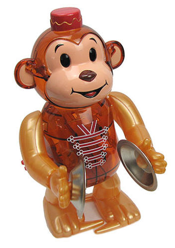 WIND-UP WALKING CYMBAL MONKEY