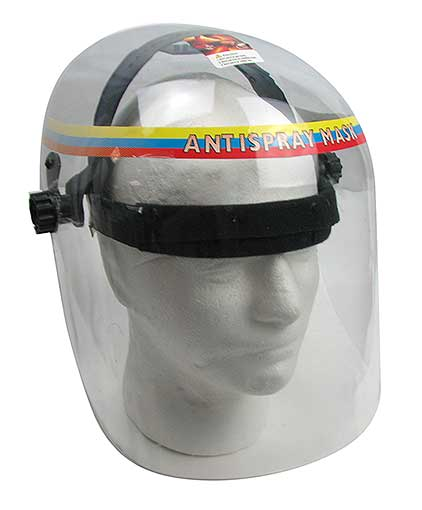 ADJUSTABLE CLEAR PLASTIC FACE SHIELD