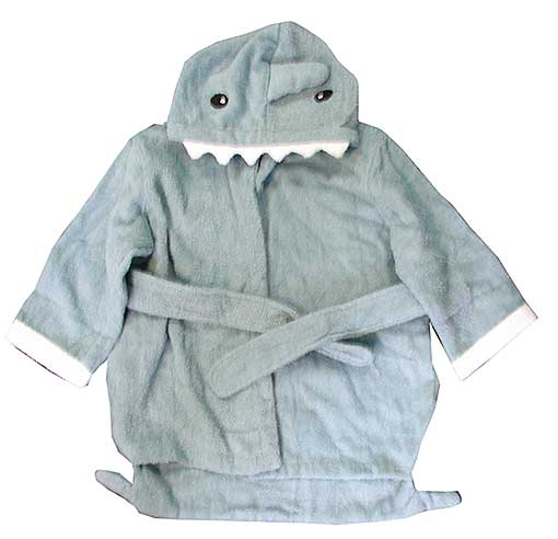 KIDS ROBE WITH SHARK HOOD