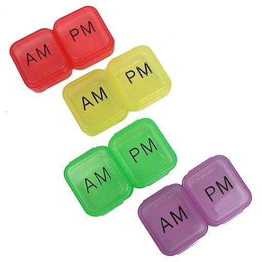 AM-PM PILL ORGANIZERS