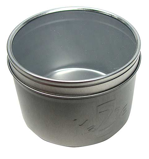 ROUND TINS WITH WINDOW LIDS