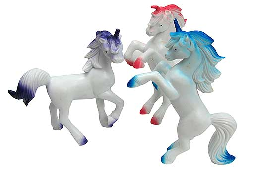 "5"" HARD RUBBER UNICORNS"