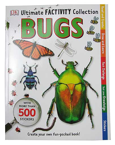 BOOK, 95pp BUGS, W/STICKERS