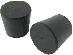 STOPPER, RUBBER, #8-SOLID