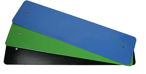 ASSORTED COLOR ENAMELED STEEL PLATES