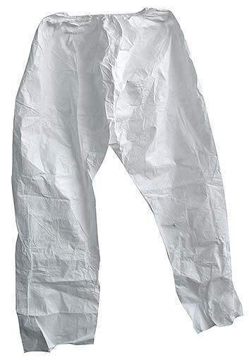 "PANTS, SM. TYVEK, 43"" LONG 18"" ELASTIC        (BP)"
