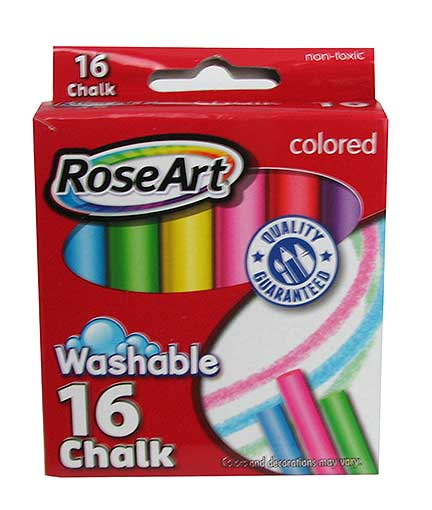 16-PIECE COLORED CHALK SET