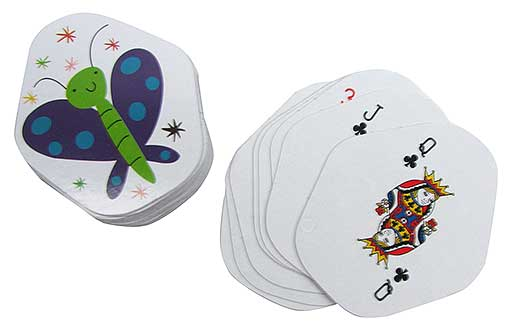 PENTAGON-SHAPED BUTTERFLY PLAYING CARDS