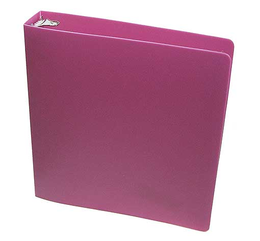 "PLASTIC 1.5"" RING BERRY BINDER WITH THICK COVER"