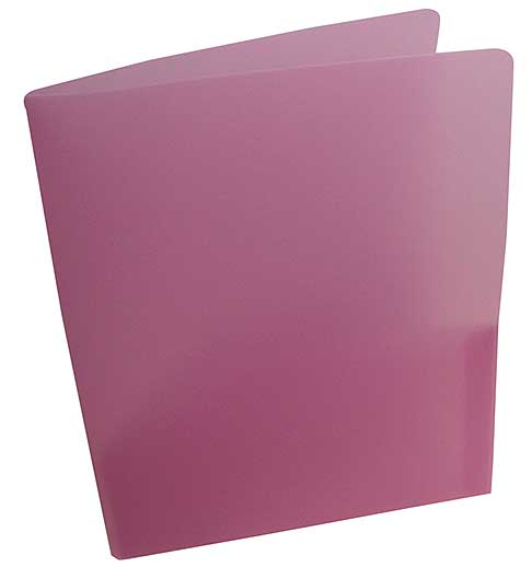 TRANSLUCENT BURGUNDY PLASTIC POCKET FOLDERS