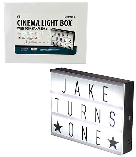 CINEMA LIGHT BOX LIGHT UP SIGN
