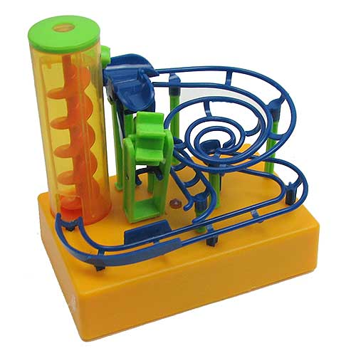 ELECTRIC SCREW AND PADDLE MARBLE RUN GAME