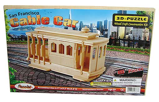 PRE-CUT WOODEN CABLE CAR KIT