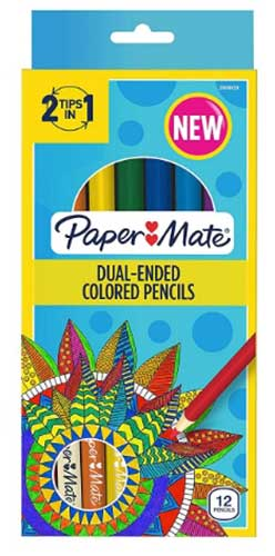 PAPERMATE® TWO-HEADED COLORED PENCILS