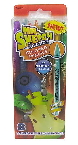 8 SCENTED MECHANICAL COLORED PENCILS