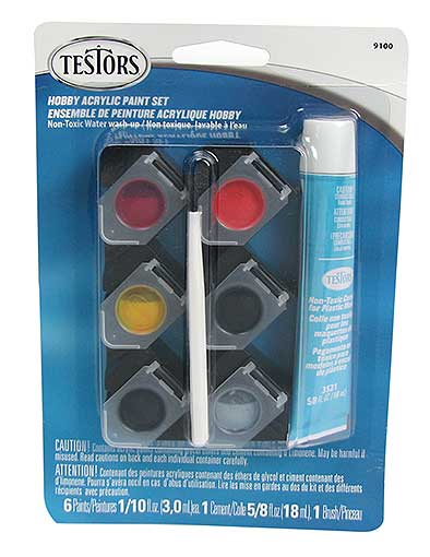 TESTORS™ HOBBY PAINT AND GLUE SET