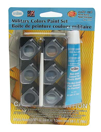 TESTORS™ MILITARY-THEMED PAINT AND GLUE SET