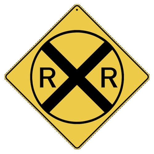 ALL METAL RAILROAD CROSSING SIGN