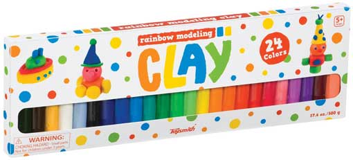 24-PIECE MODELING CLAY SET