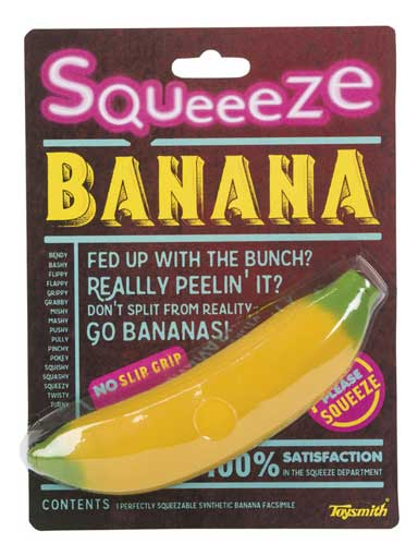 SQUEEZABLE BANANA STRESS-RELIEVER