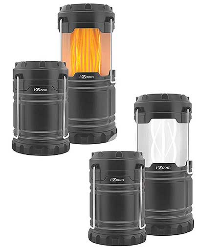 i-ZOOM® COLLAPSIBLE LED LIGHT/FLAME LANTERN