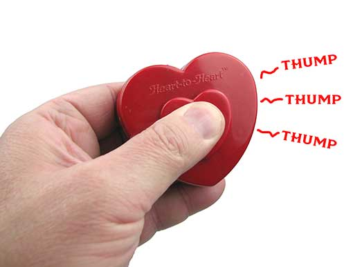POCKET BEATING HEART TOY