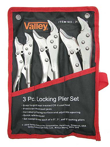 3 LOCKING PLIERS WITH POUCH