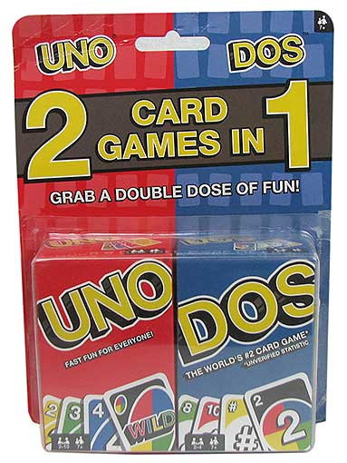 UNO AND DOS CARD GAMES