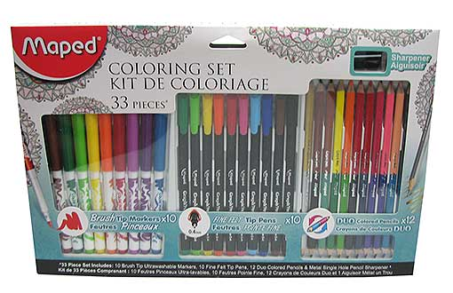 33-PIECE MARKER AND PENCIL SET