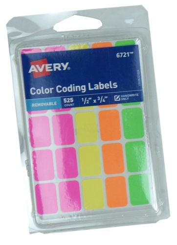BRIGHT NEON LABELING STICKERS