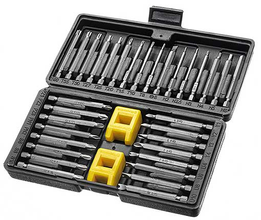 34-PIECE TAMPER-PROOF BIT SET