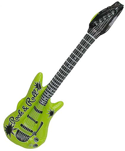 18-PACK INFLATABLE ELECTRIC GUITARS