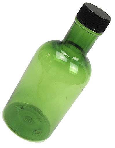 10-OZ GREEN PLASTIC BOTTLE