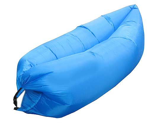 LIGHT BLUE INFLATABLE LOUNGER AIR SOFA