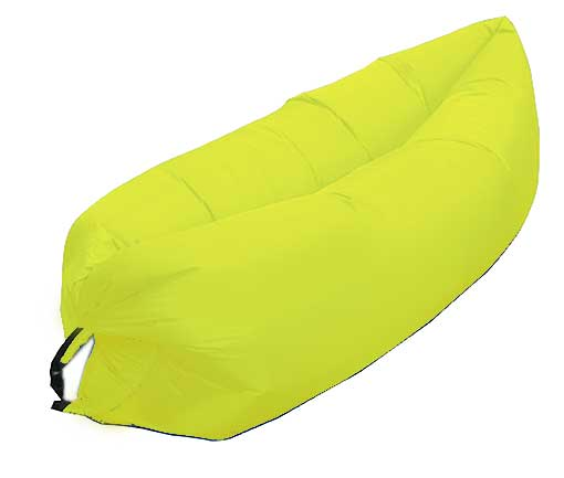 YELLOW INFLATABLE LOUNGER AIR SOFA