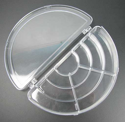 HALF-MOON PLASTIC STORAGE BOX