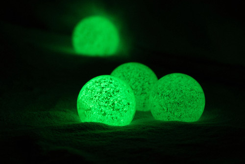GLOW IN THE DARK GLASS CRYSTAL BALL