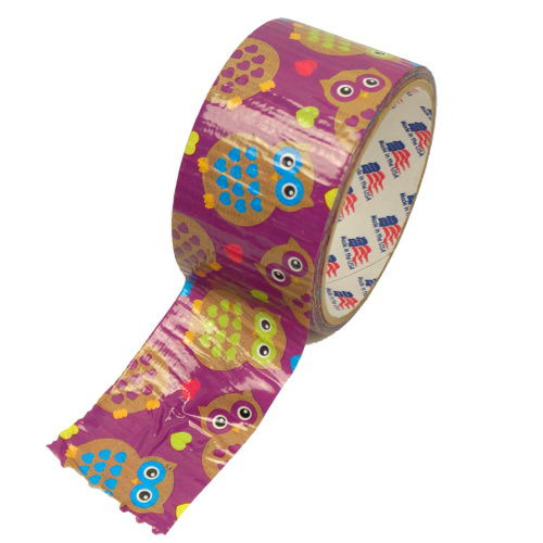"OWL DUCT TAPE DESIGN 1-7/8"" X 10 YD"
