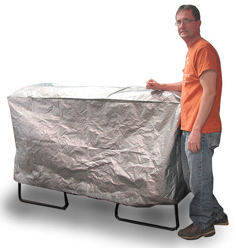 OUTDOOR GRILL TARP WITH DRAWSTRING