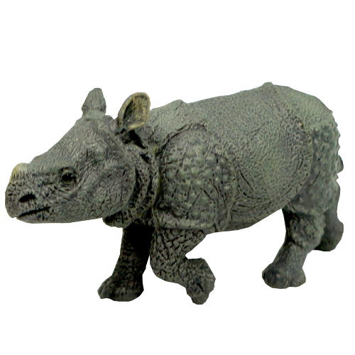 "3"" LONG RUBBER RHINOCEROS CALF"