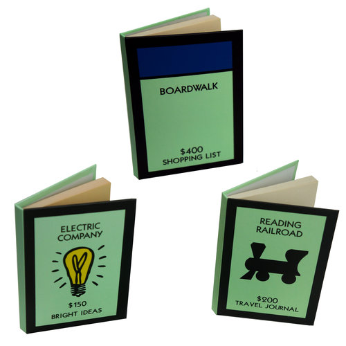 "3"" X 4"" MONOPOLY®-THEMED NOTEBOOKS"