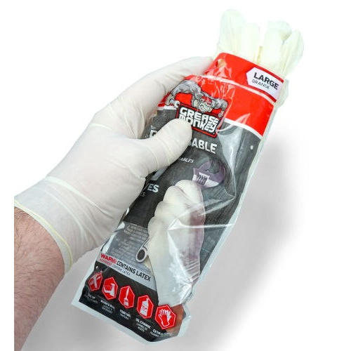 DISPOSABLE LATEX WORK GLOVES