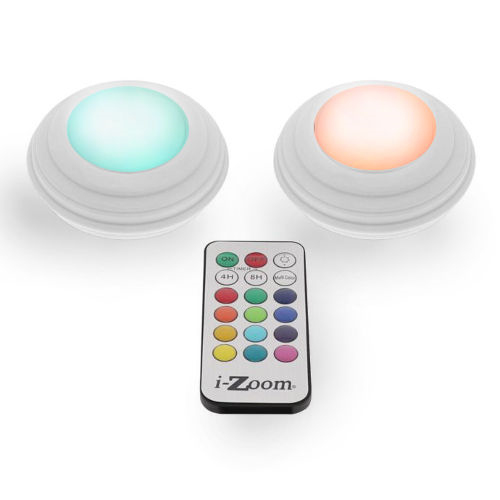 "REMOTE CONTROLLED 2"" COLORED LED ACCENT LIGHTS"