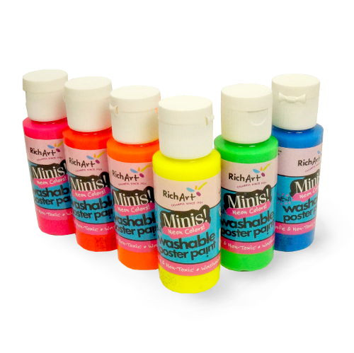 NEON TEMPERA PAINTS